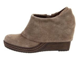 Dr. Scholl's Balance Wedge Pump Suede Gray Size 8